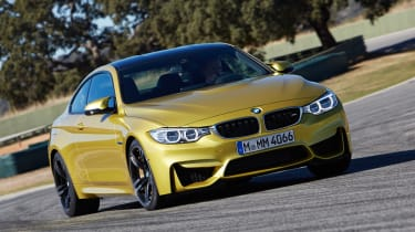 New BMW M4 yellow front