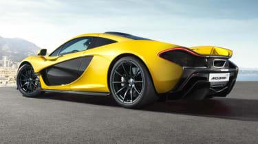 McLaren P1 supercar rear view
