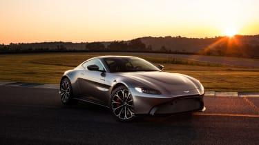 Aston Martin Vantage - silver static front quarter