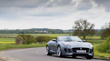 2013 Jaguar F-type V6 front cornering