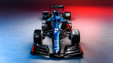 2021 Formula 1 racers – Alpine nose
