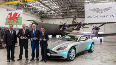 Aston Martin St Athan facility - Andy Palmer, Carwyn Jones, Sir Michael Fallon, Alun Cairns