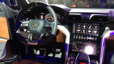 Lamborghini Urus on stand interior