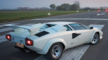 175mph Lamborghini Countach LP5000S: The larger engined Countach was capable of a genuine 175mph, when not fitted with the hu