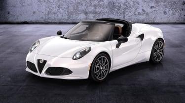 Alfa Romeo 4C Spider white front