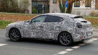 2019 Mazda 3 spied - rear quarter