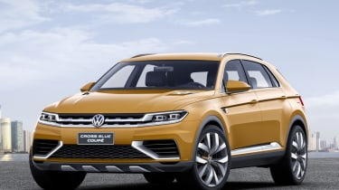 VW CrossBlue coupe concept front quarter