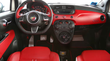 Abarth 595 50th Anniversary interior dashboard