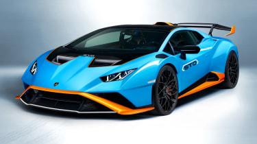 Lamborghini Huracán STO front three quarters