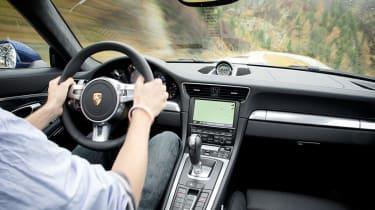 Porsche 911 Carrera 4S interior driving