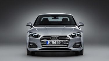 Audi A5 coupe silver - studiofront