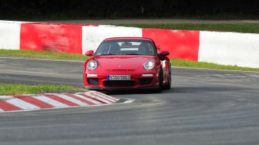 Porsche 911 GT3 on track