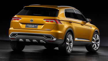 VW CrossBlue rear coupe concept