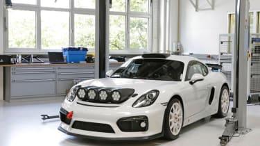 Porsche Cayman GT4 Clubsport rally - front