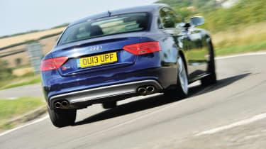 Audi S5 blue rear
