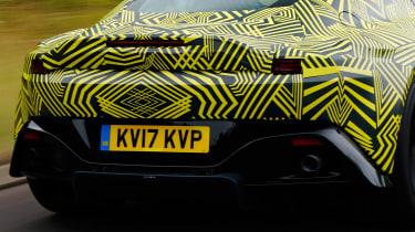 New 2018 Aston Martin Vantage spy shots rear detail