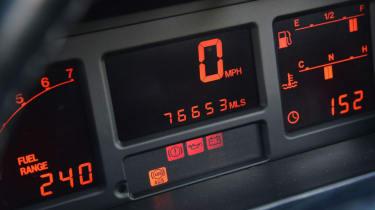 Audi Quattro - dials