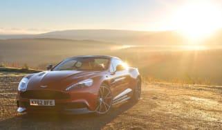 New Aston Martin Vanquish sunset