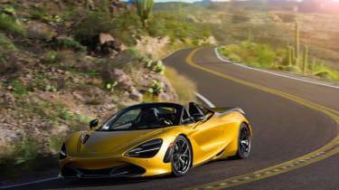 McLaren 720S Spider gold - front