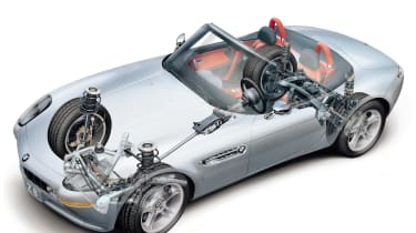 BMW Z8 – transparent chassis