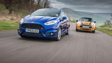 Ford Fiesta ST vs Mini Cooper S evo feature