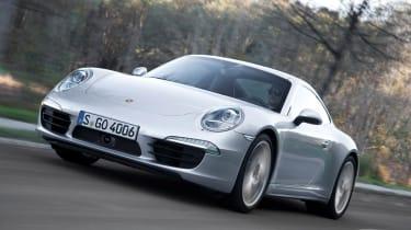 Porsche 911 Carrera 4 driving shot