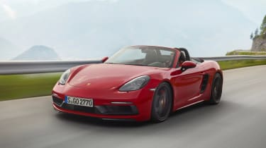 718 Boxster and Cayman GTS - front driving