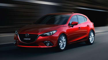 New Mazda 3 red front