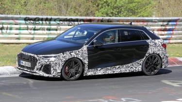 Audi RS3 mule 2020 – side