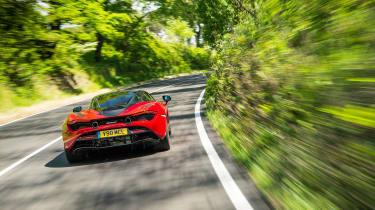 McLaren 720S - rear tracking