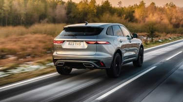 Jaguar F Pace 2021 review - P400 tracking
