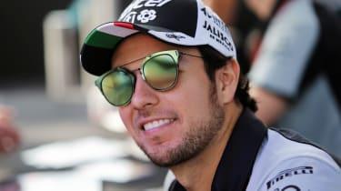 Force India driver Sergio Perez