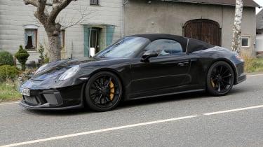 Porsche 911 Speedster spy - quarter