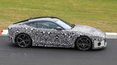 Jaguar F-type facelift spied side