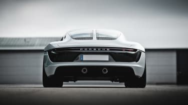 Porsche unseen mid-engined concept - rear