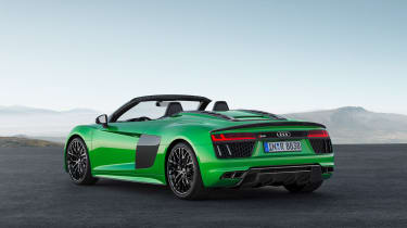 Audi R8 Plus Spyder - rear roof down