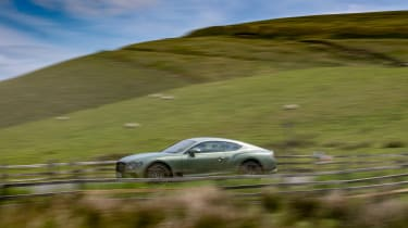 Bentley Continental GT review – green pan side
