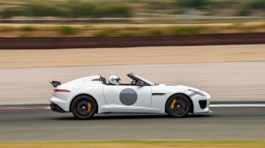 Jaguar F-Type Project 7 - white profile