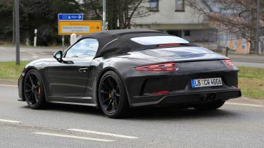 Porsche 911 Speedster spy - rear