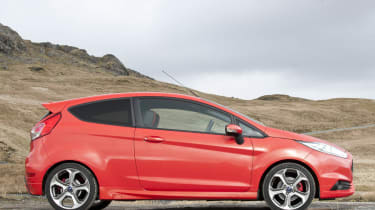 Ford Fiesta ST red side profile