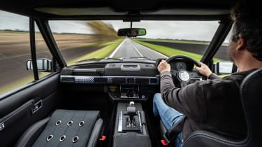 Bishops Heritage Range Rover – interior driving