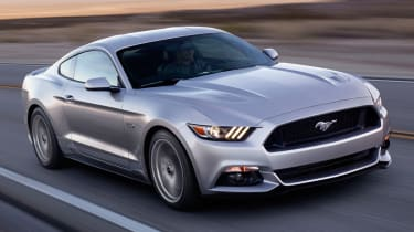 2014 Ford Mustang silver driving front