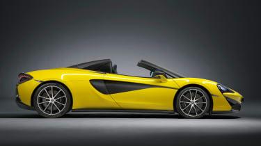 McLaren 570S Spider - profile roof down