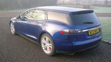 Tesla Model S Shooting Brake – rear quarter