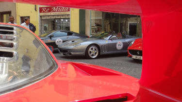 evo's Ferrari on the Mille Miglia videos