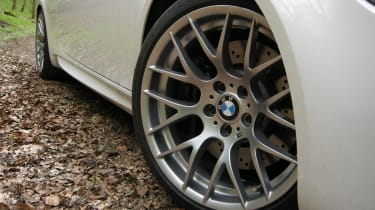 BMW M3 Competition wheel and flank