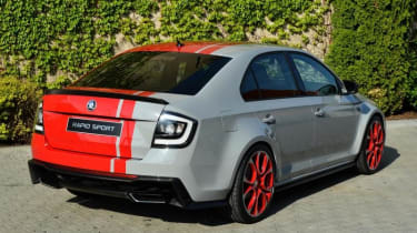 Skoda Rapid Sport concept car red and grey