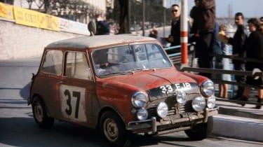 Mini Cooper at the Monte Carlo Rally: 50th anniversary