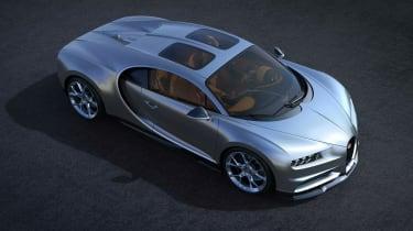 Bugatti Chiron Sky View front three quarters