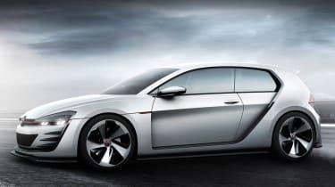 496bhp VW Golf Design Vision GTI side profile front